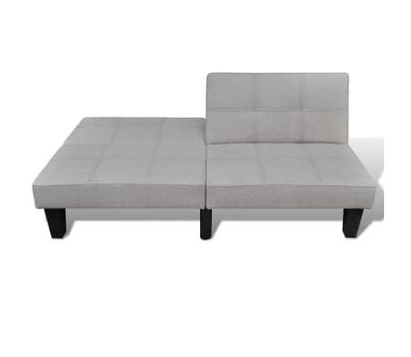 vidaXL Sofa Bed Fabric Adjustable Beige[4/6]