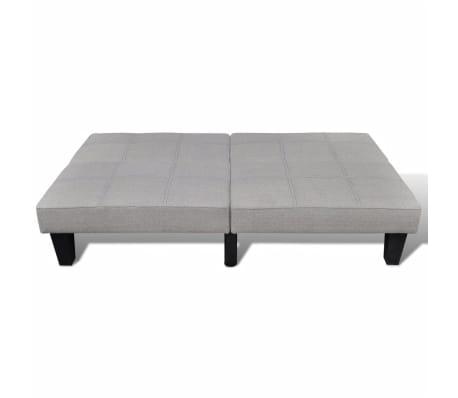vidaXL Sofa Bed Fabric Adjustable Beige[5/6]