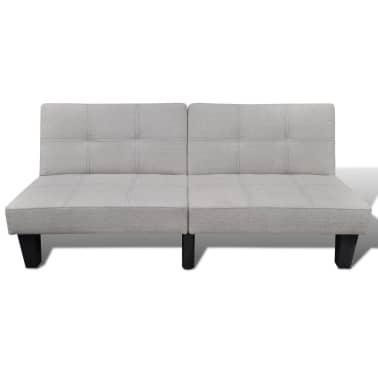vidaXL Sofa Bed Fabric Adjustable Beige[3/6]