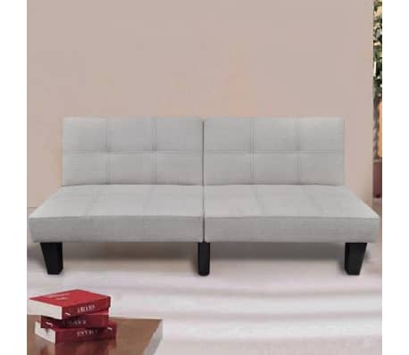 vidaXL Sofa Bed Fabric Adjustable Beige[1/6]