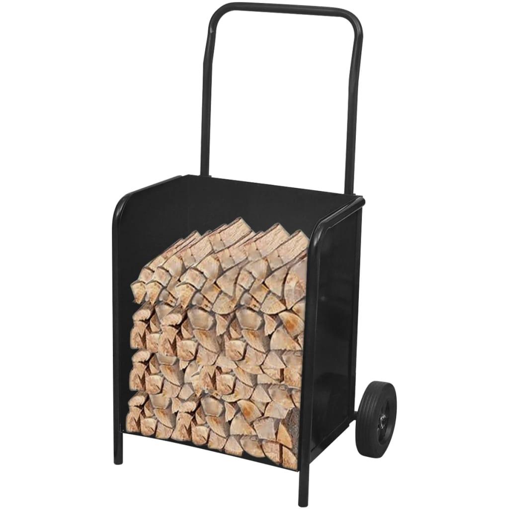 Căruț de bușteni pentru lemn de foc solid imagine vidaxl.ro
