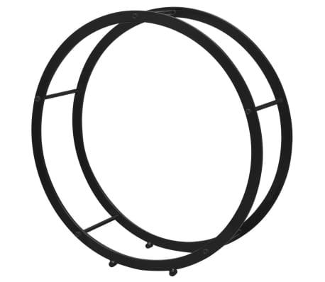 vidaXL Supporto Porta Legna da Ardere Rotondo[2/5]