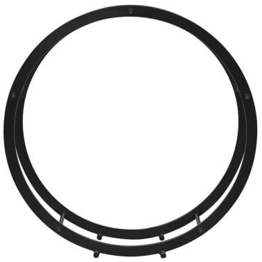 vidaXL Supporto Porta Legna da Ardere Rotondo[3/5]