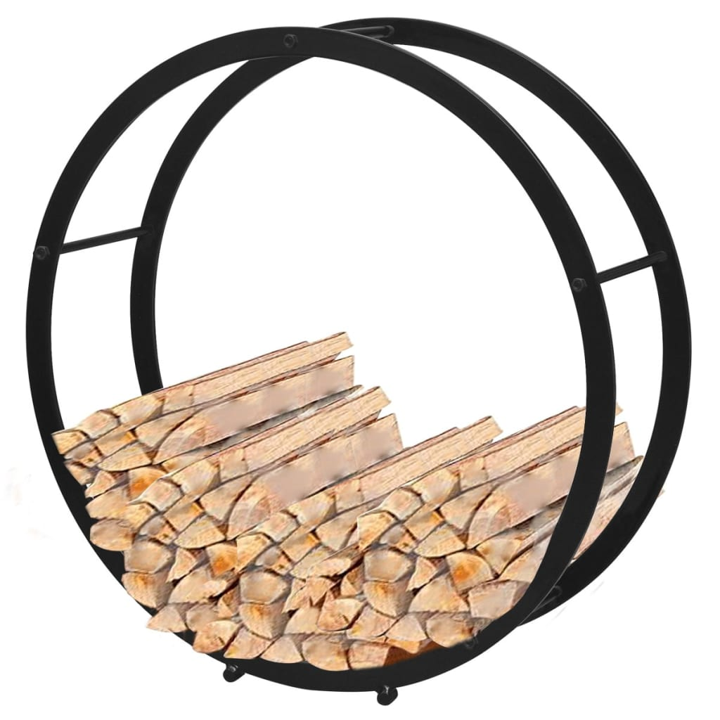 Rastel pentru lemne de foc rotund imagine vidaxl.ro
