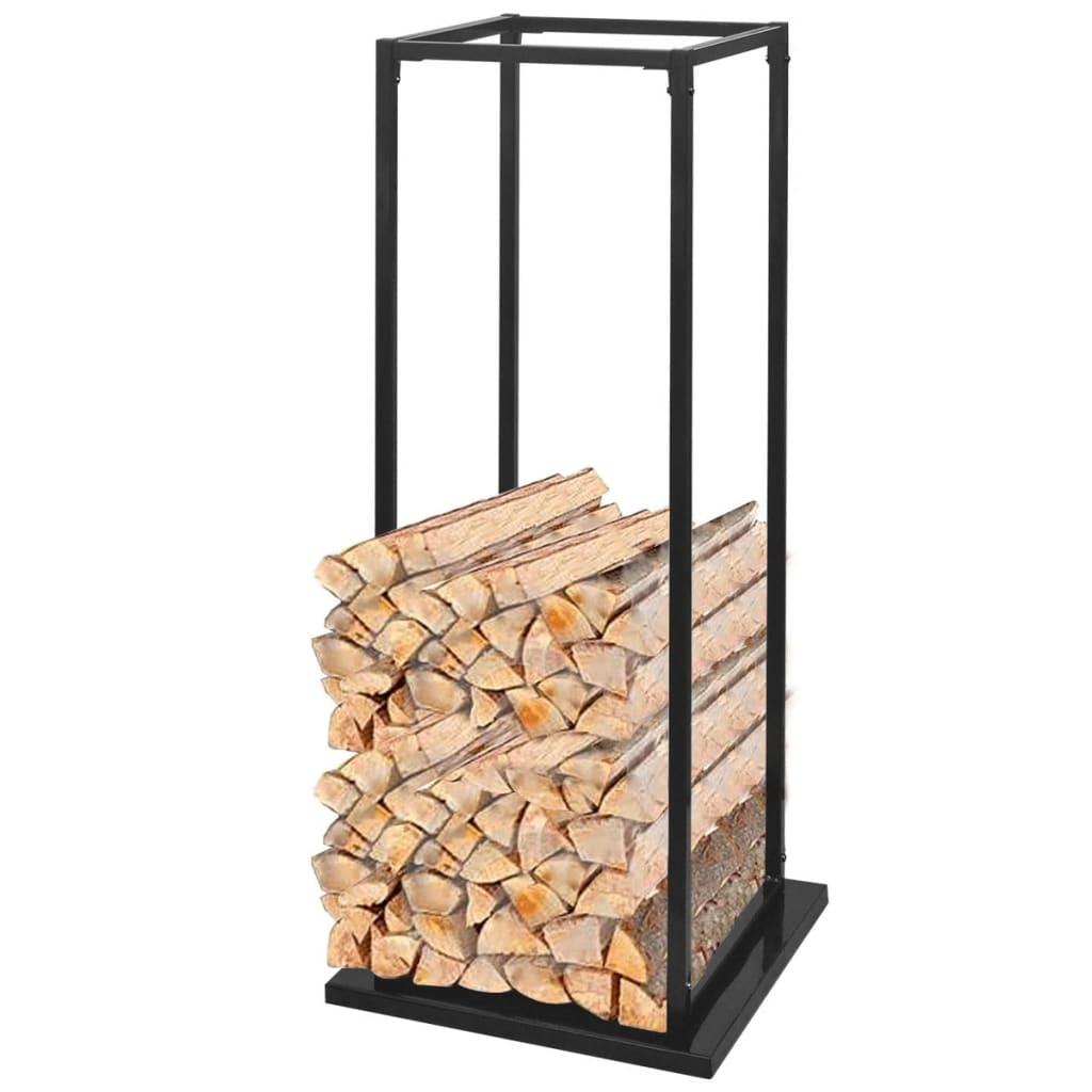 vidaXL Rastel pentru lemne de foc, cu postament, 113 cm imagine vidaxl.ro