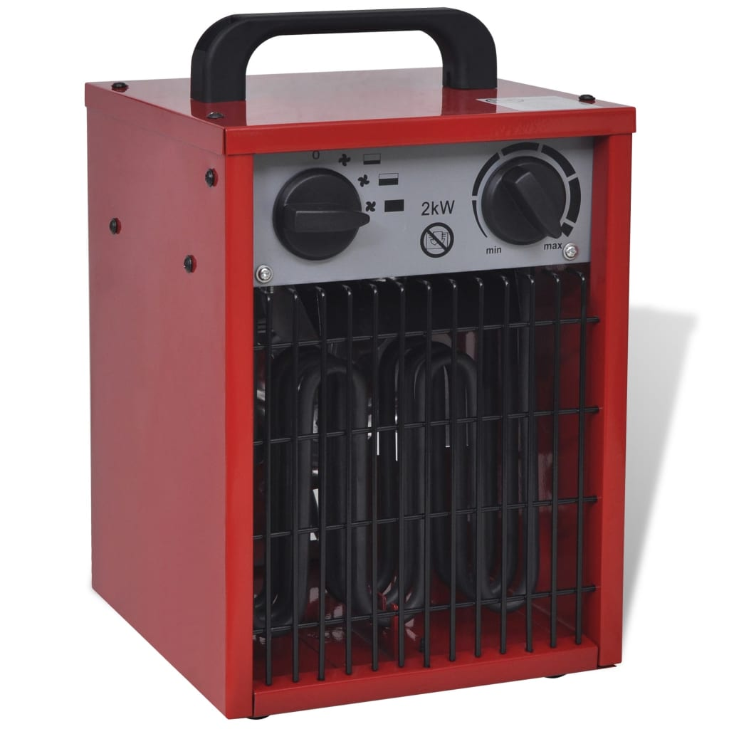 Přenosný elektrický přímotop průmyslový 2 kW 100 m³/h