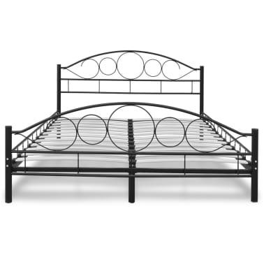 acheter lit courbe en acier enduit de poudre 140 x 200 cm noir avec matelas pas cher. Black Bedroom Furniture Sets. Home Design Ideas