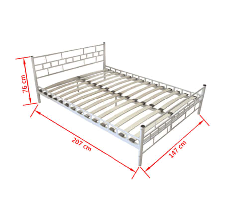 bett metallbett pulverbeschichteter stahl 140x200 cm wei matratze g nstig kaufen. Black Bedroom Furniture Sets. Home Design Ideas