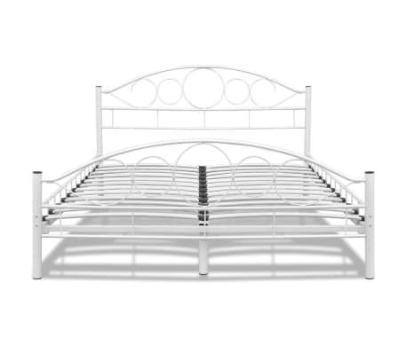 lit courbe en acier enduit de poudre 140 x 200 cm blanc avec matelas. Black Bedroom Furniture Sets. Home Design Ideas