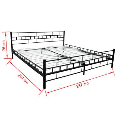 bett pulverbeschichteter stahl 180x200 cm schwarz memory matratze g nstig kaufen. Black Bedroom Furniture Sets. Home Design Ideas