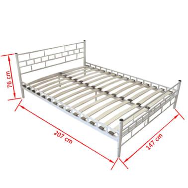 bett pulverbeschichteter stahl 140x200 cm wei memory. Black Bedroom Furniture Sets. Home Design Ideas