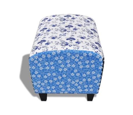 Patchwork Footstool Ottoman Country Living Style[4/5]