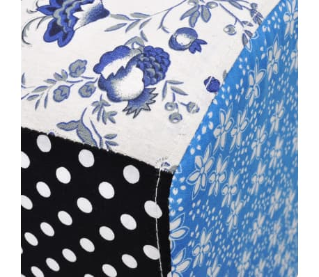Patchwork Footstool Ottoman Country Living Style[5/5]