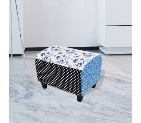 Patchwork Footstool Ottoman Country Living Style[1/5]