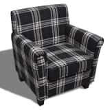 Sofa Chair Armchair Fabric Black Seat Cushion