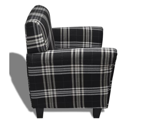 Sofa Chair Armchair Fabric Black Seat Cushion[4/5]