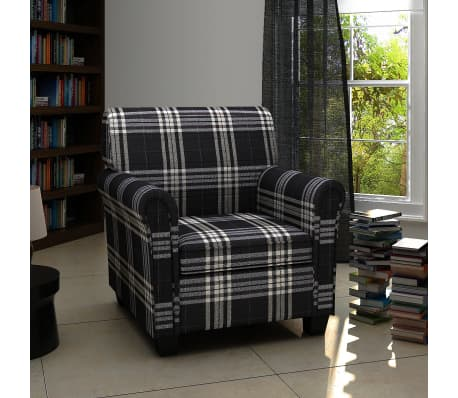 Sofa Chair Armchair Fabric Black Seat Cushion[1/5]