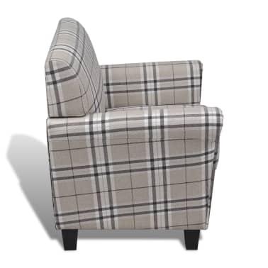 Sofa Chair Armchair Fabric Cream Seat Cushion[4/5]