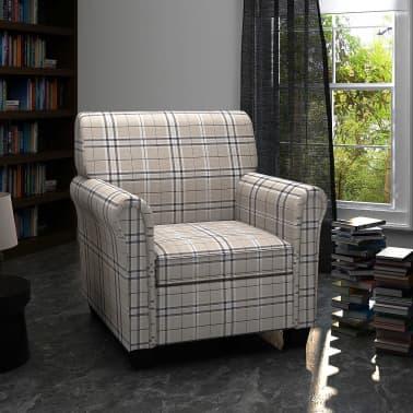 Sofa Chair Armchair Fabric Cream Seat Cushion[1/5]
