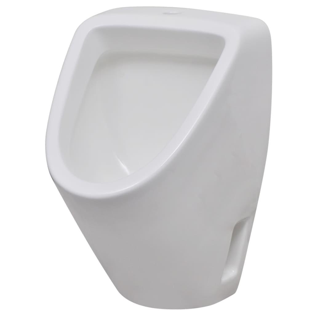 Pisoar ceramic de perete pentru baie, alb vidaxl.ro