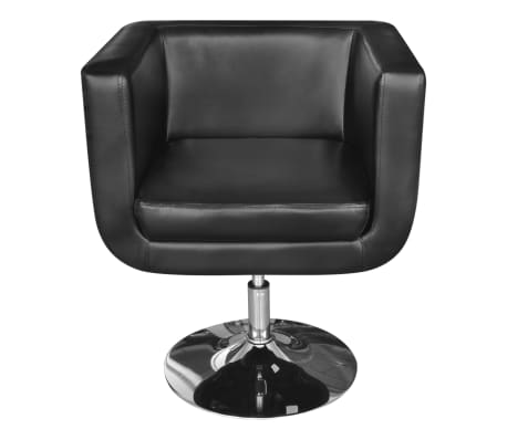 2 Black Adjustable Armchairs with Chrome Base[3/6]