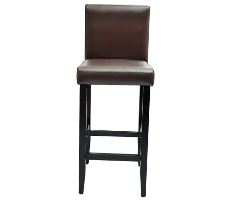 135c7a83e246a 6 Modern Brown Bar Stools Artificial Leather 3 3