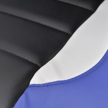 Artificial Leather Office Chair Height Adjustable Modern Blue[6/6]