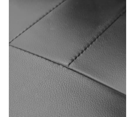 Luxury Leather Office Chair Height Adjustable Swivel Black[4/4]