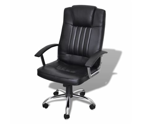 Luxury Office Chair Height Adjustable Swivel Seat Black[1/5]