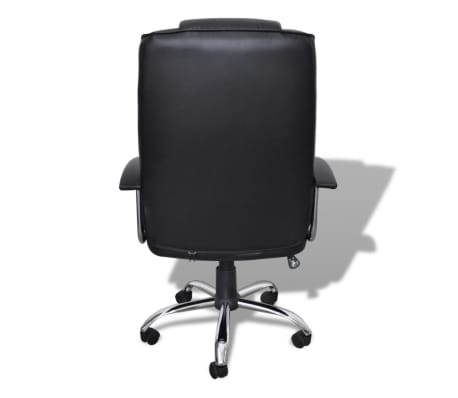 Luxury Office Chair Height Adjustable Swivel Seat Black[4/5]