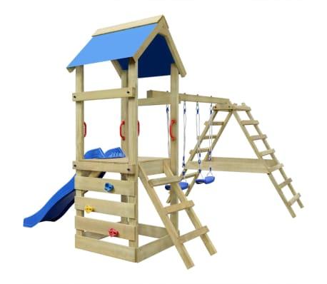 vidaXL Aire de jeu, échelle, toboggan, balançoires Bois 356x255x242 cm 4  6821440bd08f