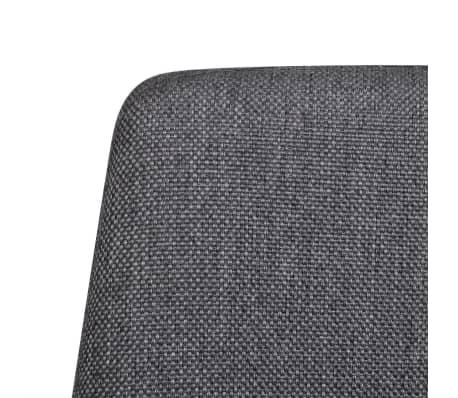 vidaXL Dining Chairs 4 pcs with Iron Legs Fabric Dark Grey[6/7]