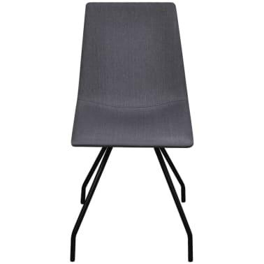 vidaXL Dining Chairs 4 pcs with Iron Legs Fabric Dark Grey[2/7]