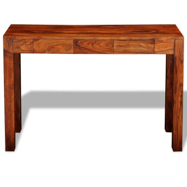 vidaXL Console Table with 3 Drawers 80 cm Solid Sheesham Wood[2/9]