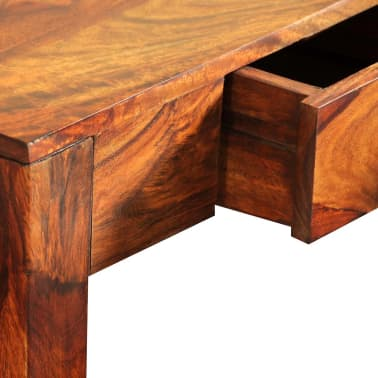 vidaXL Console Table with 3 Drawers 80 cm Solid Sheesham Wood[8/9]