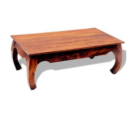 vidaXL Table basse 40 cm Bois massif de Sesham[7/8]