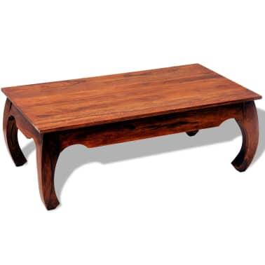 vidaXL Table basse 40 cm Bois massif de Sesham[8/8]