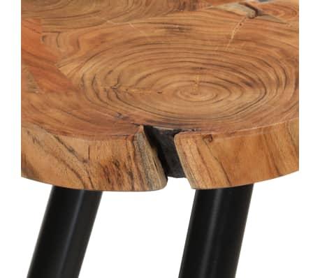 vidaXL Table basse 35 cm 6 troncs Bois massif de Sesham[8/9]