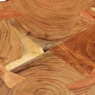 vidaXL Table basse 35 cm 6 troncs Bois massif de Sesham[4/9]
