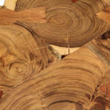 vidaXL Table basse 35 cm 6 troncs Bois massif de Sesham[5/9]