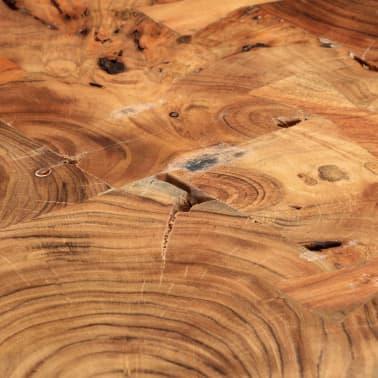 vidaXL Table basse 35 cm 6 troncs Bois massif de Sesham[6/9]