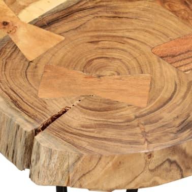 vidaXL Table basse 35 cm 6 troncs Bois massif de Sesham[7/9]