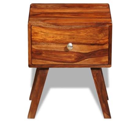 vidaXL Table de chevet avec 1 tiroir 55 cm Bois massif de Sesham[2/6]