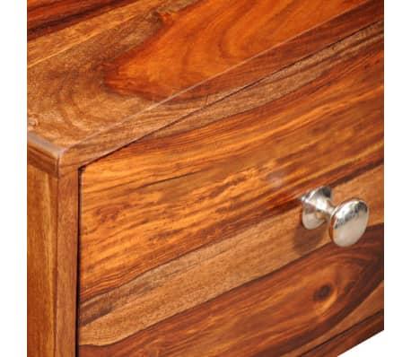 vidaXL Table de chevet avec 1 tiroir 55 cm Bois massif de Sesham[4/6]