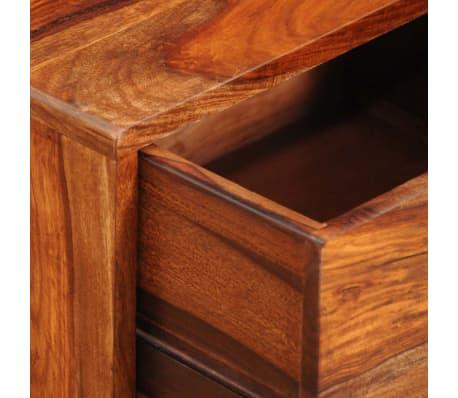vidaXL Table de chevet avec 1 tiroir 55 cm Bois massif de Sesham[5/6]