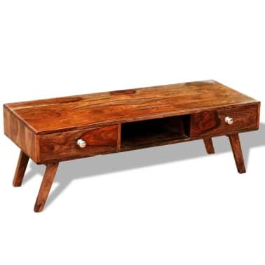 Bufet comodă TV cu 2 sertare, lemn masiv de sheesham, vintage, 40 cm[1/9]