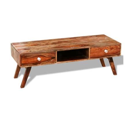 sheesham massivholz tv schrank sideboard 2 schubladen vintage 40 cm g nstig kaufen. Black Bedroom Furniture Sets. Home Design Ideas