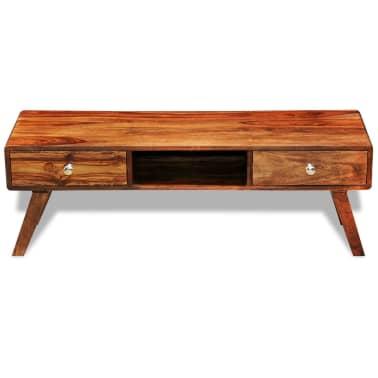 Bufet comodă TV cu 2 sertare, lemn masiv de sheesham, vintage, 40 cm[2/9]
