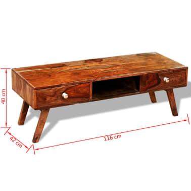 Bufet comodă TV cu 2 sertare, lemn masiv de sheesham, vintage, 40 cm[4/9]