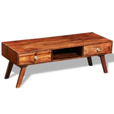 Bufet comodă TV cu 2 sertare, lemn masiv de sheesham, vintage, 40 cm[5/9]